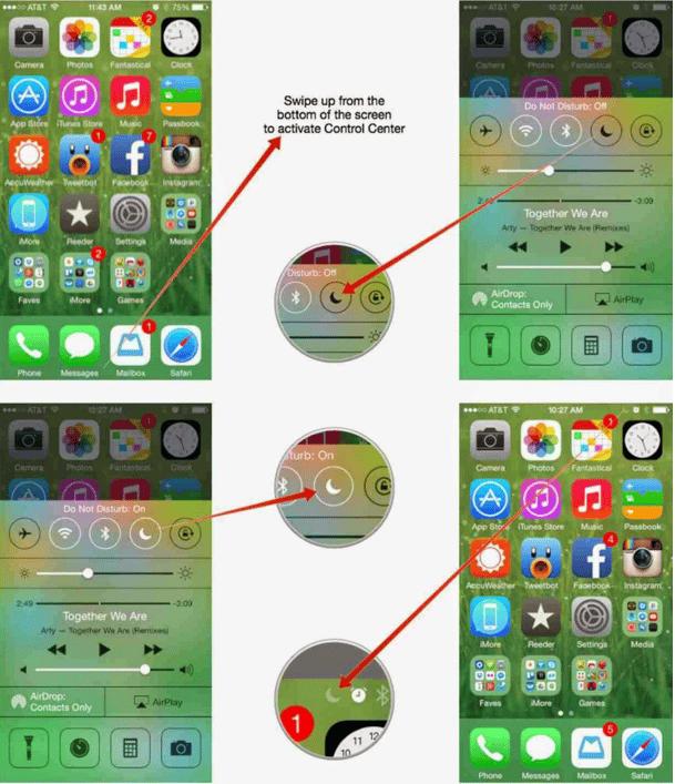 Cara Paling Mudah Menggunakan atau Mengaktifkan Do Not Disturb Pada iPhone dan iPad 1