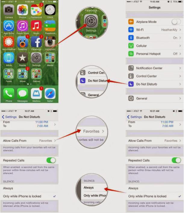 Cara Paling Mudah Menggunakan atau Mengaktifkan Do Not Disturb Pada iPhone dan iPad 3