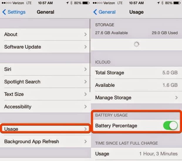 Cara Singkat Menampilkan Presentase Baterai pada iPhone & iPad