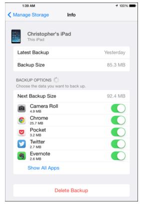 Cara Menghapus File Backup di iCloud 3