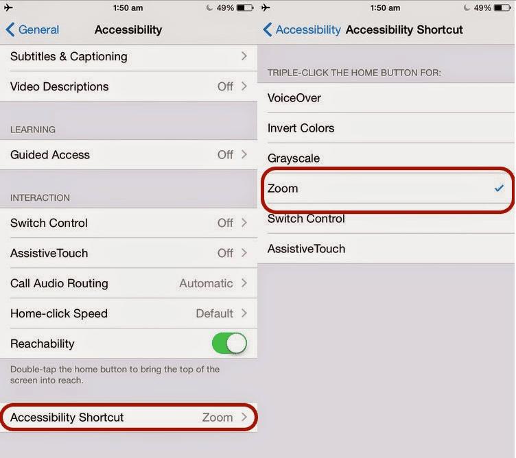 Cara Mengurangi Kecerahan layar iPhone 2