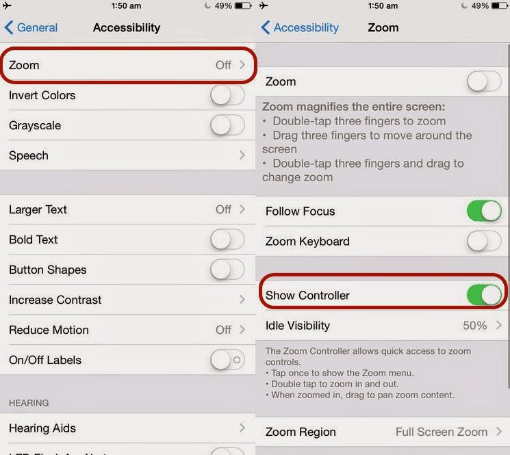 Cara Mengurangi Kecerahan layar iPhone