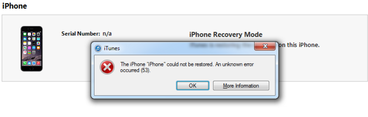 Error 53 iphone