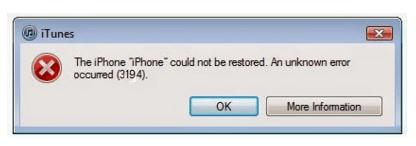 Memperbaiki Error 3194 di iTunes pada Saat Update atau Restore iOS