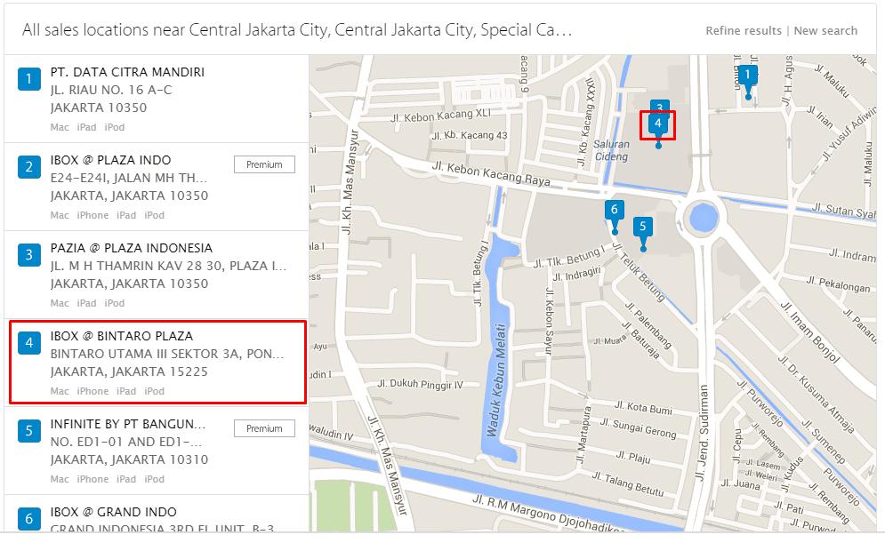 Trik Cara Mencari Lokasi Penjualan dan Service Center Apple di Kotamu dengan Mudah 3