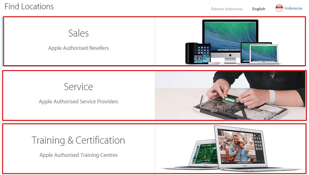 Trik Cara Mencari Lokasi Penjualan dan Service Center Apple di Kotamu dengan Mudah