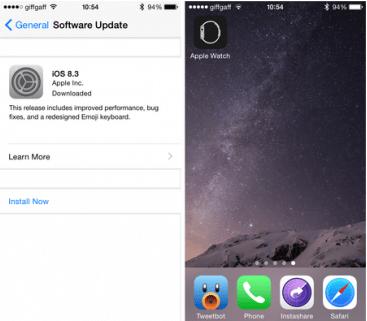 iPhone ter-update dengan iOS versi 8.2 keatas