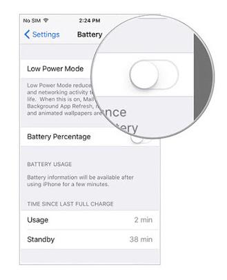 Cara Menghemat Baterai dengan Fitur Low Power di iOS 9 3