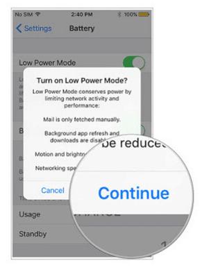 Cara Menghemat Baterai dengan Fitur Low Power di iOS 9 5