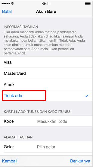Cara Membuat Apple ID Tanpa Kartu Kredit Lewat iPhone 9