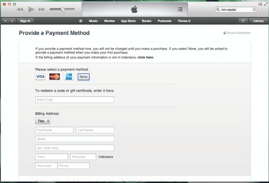 Cara Membuat Apple ID Tanpa Kartu Kredit Menggunakan iTunes Store 3