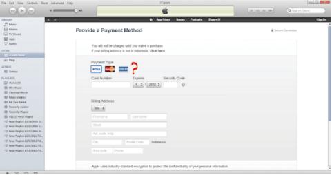 Cara Mengatasi Tidak Ada Pilihan NONE Pada Saat Membuat Apple ID di iTunes 1
