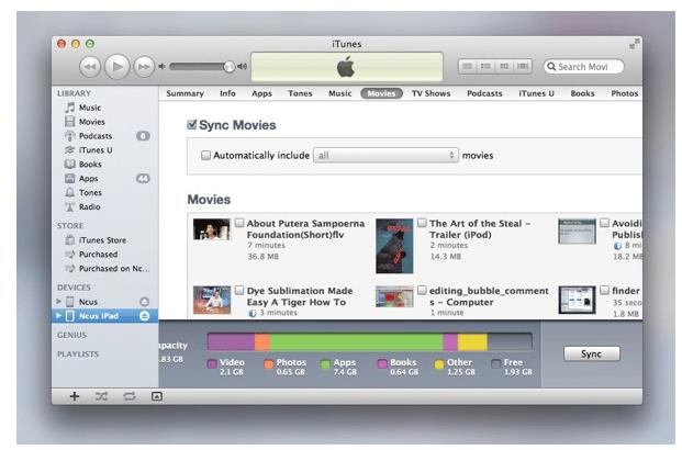 Sync iTunes