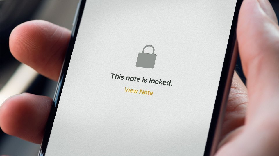 can you lock your notes on iphone