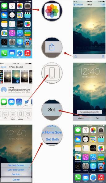 Cara Merubah Wallpaper di iPhone atau iPad menggunakan Foto App