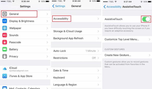 Cara mengaktifkan AssitiveTouch di iPhone