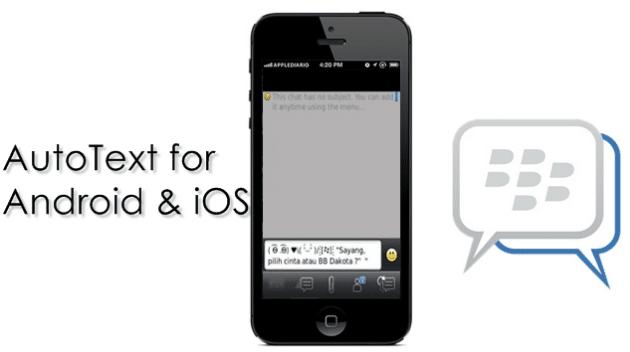 Autotext BBM di iOS