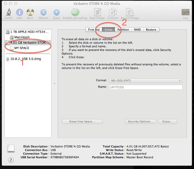 Cara Format Flashdisk atau Hardisk di Macbook 2