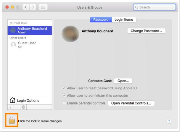 Cara Menambahkan Guest User di Mac 2