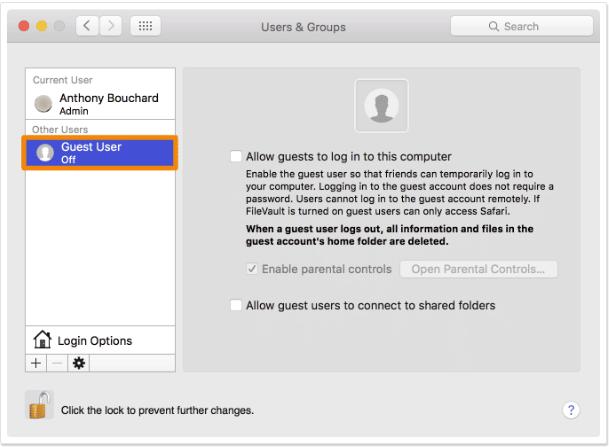 Cara Menambahkan Guest User di Mac 5