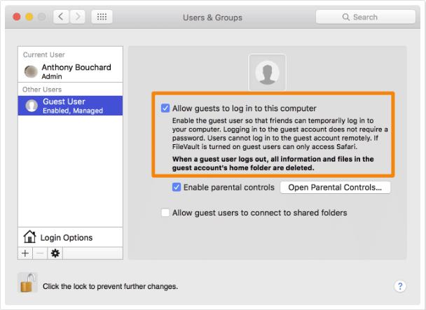 Cara Menambahkan Guest User di Mac 6