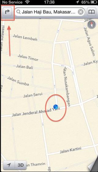 Cara Menggunakan GPS iPhone Sebagai Petunjuk Jalan 3