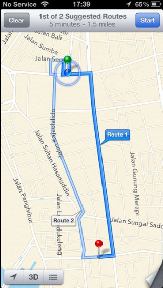 Cara Menggunakan GPS iPhone Sebagai Petunjuk Jalan 5