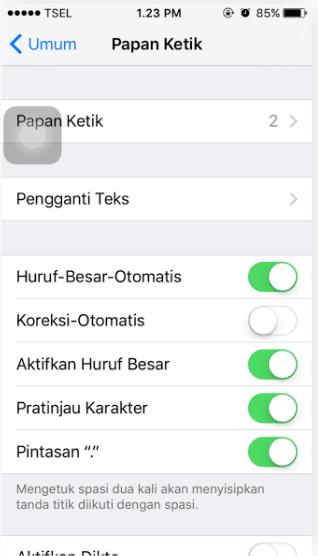 Cara Mudah Menonaktifkan Auto-corect di iPhone dan iPad 3