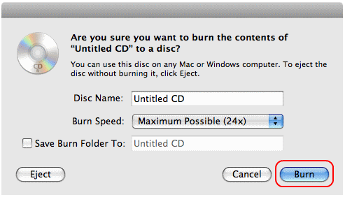 Cara Simpel Burning CD di Mac OS X 4 2