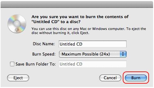Cara Simpel Burning CD di Mac OS X 4 2