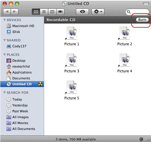 Cara Simpel Burning CD di Mac OS X 4
