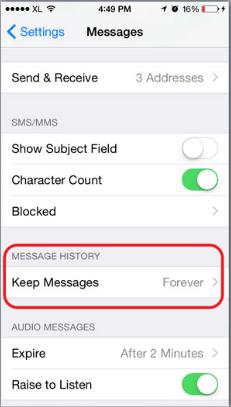 Cara Simpel Hapus Pesan Lawas di iPhone iOS 8 Secara Otomatis 2