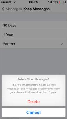 Cara Simpel Hapus Pesan Lawas di iPhone iOS 8 Secara Otomatis 4