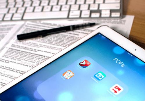 Download File .PDF Lewat iPad