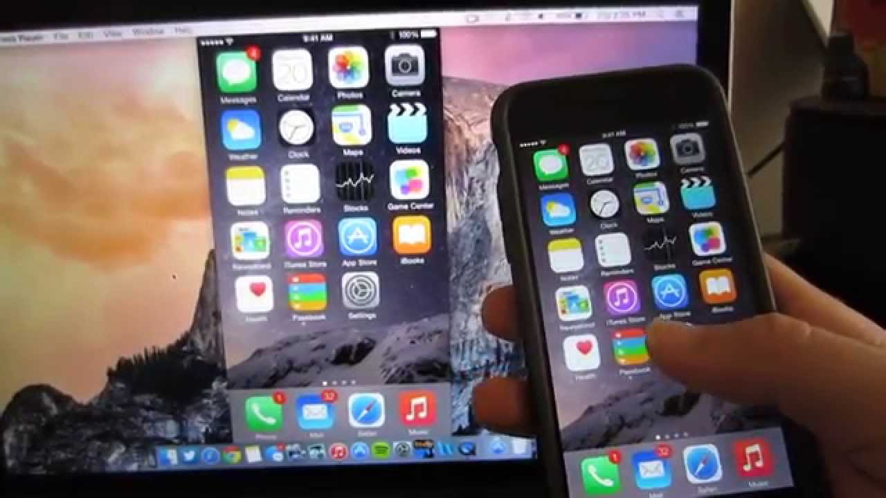 Screen Capture Video iPhone dan iPad Via OS X Yosemite