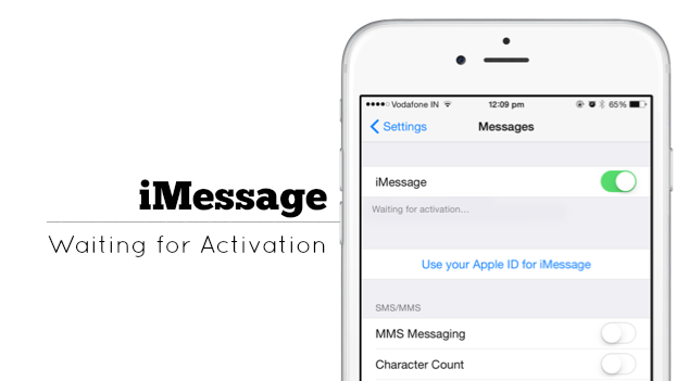 iMessage Error Activation