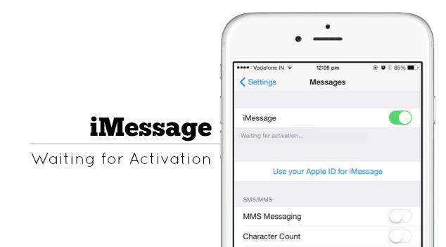 iMessage Error Activation