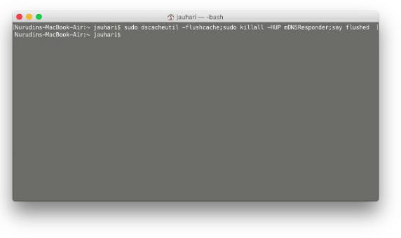 Cara Reset Cache atau Flush DNS OS X Yosemite