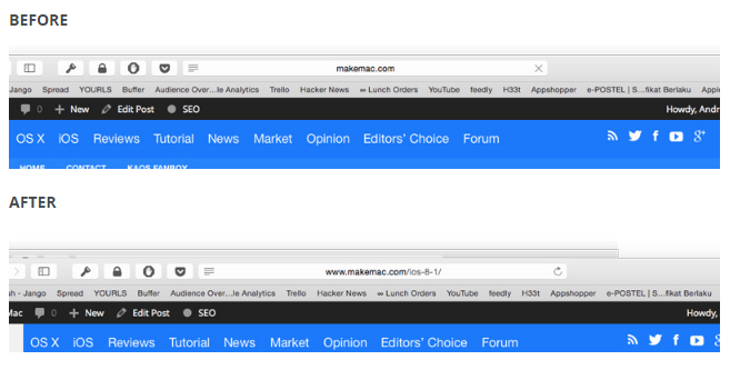 Cara Simpel Menampilkan URL Situs dengan Lengkap di Safari OS X Yosemite 2