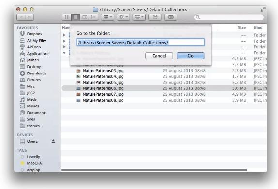 Cara Akses Hidden Wallpaper OS X Mavericks