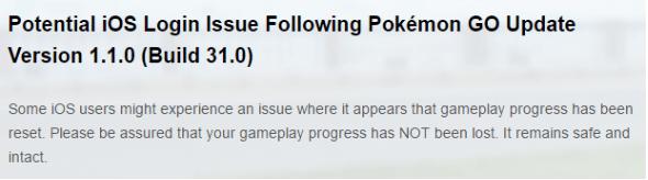 Cara Ampuh Mengatasi Isu Login Pokémon GO versi 1.1.0