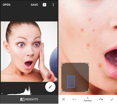 Cara Mengedit Foto Menghilangkan Jerawat Menggunakan Snapseed di iPhone 6