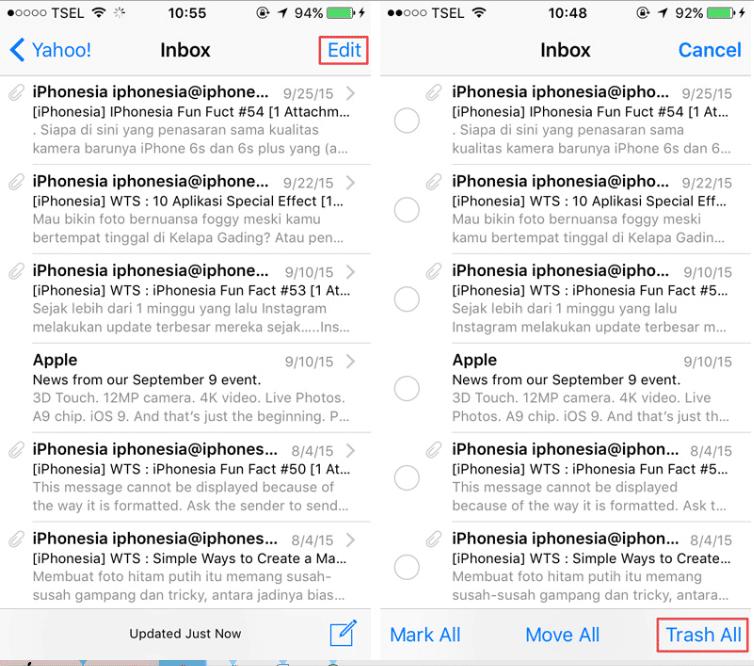 Cara Paling Simpel Hapus Semua Email di Perangkat iOS