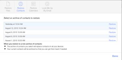 Cara Restore Kontak di iCloud.com