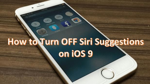 Siri Suggestion Pada iOS 9