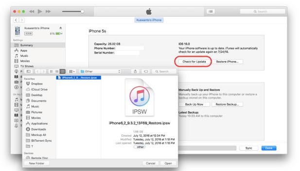Tutorial Downgrade iOS 10 Beta ke iOS 9.3.2