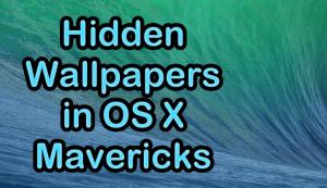 Wallpaper OS X Mavericks