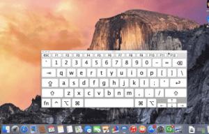 Keyboard On Screen di Mac OS X