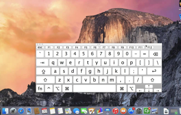 Keyboard On Screen di Mac OS X