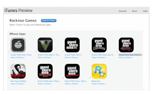 Grand Theft Auto di iOS App Store
